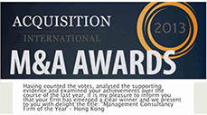 2013 Acquisition-International M&A Award